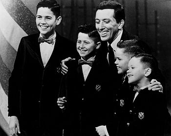 Publicity photo of the young Osmond Brothers w...