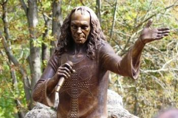 English: Ronnie James Dio monument in Kavarna,...