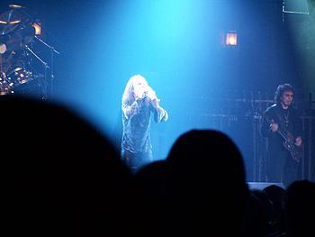 English: Ronnie James Dio performs with Heaven...
