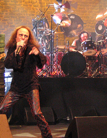 English: Ronnie James Dio from Heaven and Hell...